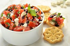 Feta bruschetta- had this at Denise's party, it was AMAZING!!