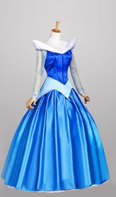 Slapende schoonheid prinses Aurora Cosplay kostuum blauw voor