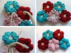 Crochet Flower Baby Blanket2