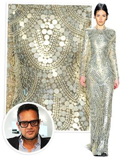 Look at the detailed silver art-deco inspired sequin and beaded work
