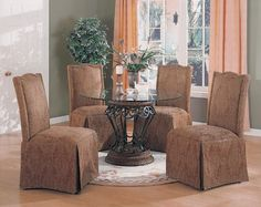 5pc Luxury Terracotta Finish Round Dining Table  Parson Chairs Set -- You can get additional details at the image link.Note:It is affiliate link to Amazon.