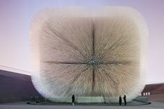Street and Public Art, Thomas Heatherwick, Designer, Seed Cathedral UK Pavilion Shanghai Expo, 2010, There is a video pinned to this board of Thomas Heatherwick discussing the installation.