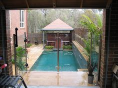 Make your swimming pool safe and secure with glass fencing Glass Fence, Glass Balustrade, Swimming Pools Backyard, Garden Fencing, Outdoor Living, Outdoor Decor, Fence Ideas, Better Homes, Clear Glass