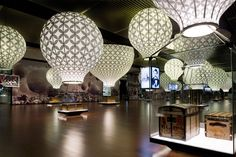 Louis Vuitton exhibit display at the National Museum of China // genius lighting