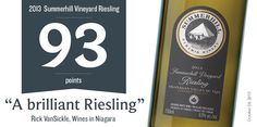 Summerhill Pyramid Winery | 2013 Summerhill Vineyard Riesling | 93 Points – Rick VanSickle | summerhill.bc.ca