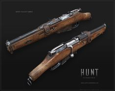 The Mosin Nagant (Obrez) The Mosin Nagant is one of the most effective rifles in Hunt - Showdown. Featuring a 5 round magazine and quick stripper clip reload, it has a good rate of fire and is quick to reload. The Mosin offers quite some modifications to Zombie Weapons, Weapons Guns, Funny Gaming Memes, Valkyria Chronicles, Hand Cannon, Ninja Sword, Weapon Concept Art, Military Guns, Steampunk
