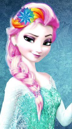 Punk Disney: Elsa with Snowflakes in her hair. Disney Princess Fashion, Disney Princess Quotes, Disney Princess Drawings, Disney Princess Pictures, Princess Cartoon, Princesa Disney Frozen, Disney Frozen Elsa, Frozen Movie, Frozen Party
