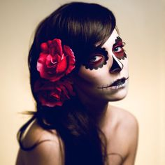 Day of the Dead Makeup - red   Halloween Costumes