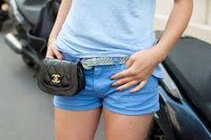 Chanel bum bag (batte il cuore bum bum) - The Vogue Advisor Chanel Street Style, Bags Uk, Fanny Pack, Clutch Bag, Casual Shorts, Fashion Accessories, Vogue, Purses, My Style