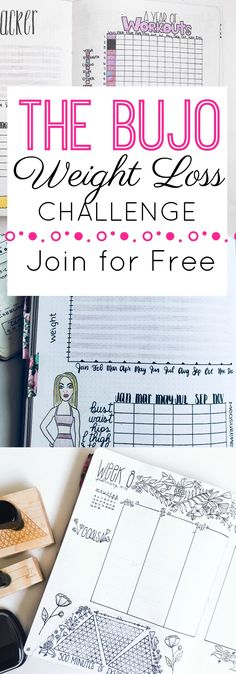 Join the Bullet Journal Weight Loss Challenge Completely Free