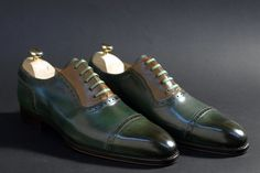 Colourful Markowski cap toe oxfords..  What would they go with?  Ah who cares, wear them naked!