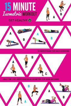 This 15 minute isometric workout combines dynamic exercises and isometric exercises for a total-body strength powerhouse! The best method in Absolutely safe and easy! Best Ab Workout, Ab Workout At Home, At Home Workouts, Quick Workouts, Circuit Workouts, Weight Workouts, Cardio Workouts, Workout Plans, Workout Ideas