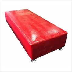 Rectangle Large Ottoman in Red By Designs