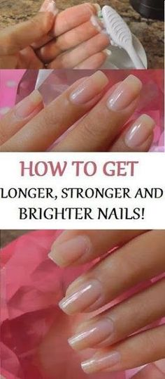 Every female would like to have long healthy and strong nails. However, that's not so easy to attain the achievements. There are different reasons why you can't have nice and strong nails: bad perf… Nail Growth Diy Nails Soak, Nail Soak, Cute Nails, Pretty Nails, Hair And Nails, My Nails, Nagel Hacks, How To Grow Nails, Grow Nails Fast