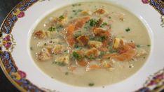 Eén - Dagelijkse kost - aspergesoep met croutons en gerookte zalm
