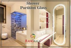 Make your bathrooms more useable with partition glass or make glass cabin with Shree Rangkala Shower partition glass. www.rangkalaglass.com #showerpartitionglass #partitionglass #glassdesign #privacyglass #partition Office Interior Design, Office Interiors, Interior Decorating, Pune, Bungalow, Stripped Wall, Glass Cabin, Fabric Ceiling, Back Painted Glass