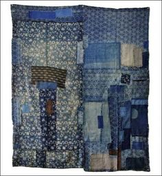 Kimonoboy carries vintage textiles from Japan. Here is an example of an old Boro quilt Jim has on his site: