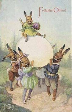 Vintage Easter, Vintage Holiday, Vintage Birthday, Easter Art, Easter Crafts, Easter Ideas, Vintage Cards, Vintage Postcards, Easter Bunny Pictures