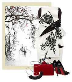 """""""Asian Art 1/2: China"""" by cassandra-cafone-wright ❤ liked on Polyvore featuring Christian Louboutin"""