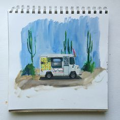 ice-cream truck #sketchbook a tiny rocket: Making Art Everyday in 2015 // Day 155