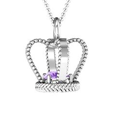 Royally Radiant 3D Crown Necklace