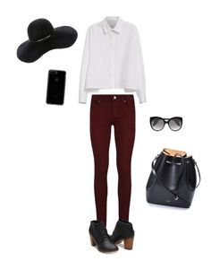 """""""My sister made this😍😂"""" by saustin-2 ❤ liked on Polyvore featuring RE/DONE, Y's by Yohji Yamamoto, Paige Denim, N°21, Alexander McQueen and Eugenia Kim"""