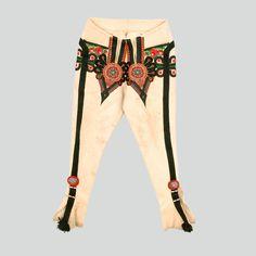 "Spodnie - Etnodizajn ""Wzornik"" / ENG: www. Traditional Design, Traditional Outfits, Yarn Twist, Polish Folk Art, Folk Clothing, Folk Fashion, Embroidery Applique, Abstract Pattern, Heart Shapes"
