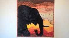 Patchwork courbes - Eléphant