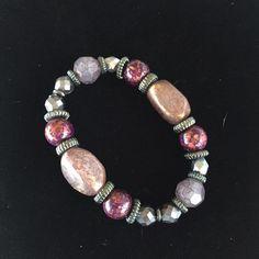 """'Rhapsody' stretch bracelet Hematite plated with beads on 7"""" stretch bracelet. NEW. Premier Designs. Premier Designs Jewelry Bracelets"""