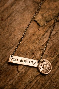You Are My Sunshine 2-Piece Necklace Alexis and I sing this to each other.