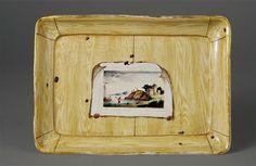 Plateau manufacture de Lunéville, ca. 1760 faïence à décor de faux bois Sèvres, Cité de la céramique, MNC28408