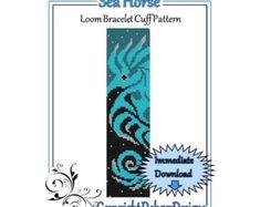 Bead Pattern LoomBracelet CuffLeopard Lady by LoomTomb on Etsy