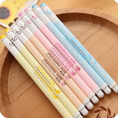 These Milky Erasable Gel Pens are super cute! They come in a variety of flavors including Banana Milk, Strawberry Milk, Chocolate Milk, and White Milk. You can purchase individually or all 4 flavors f