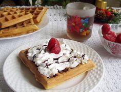 Villámgyors édes reggelink, a gofri   Katarzis Waffles, Breakfast Recipes, Sandwiches, Brunch, Cookies, Food, Recipes For Breakfast, Biscuits, Essen