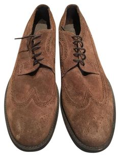 6007b278cb59 Brown Suede Men s Never Wingtip Lace Up Formal Shoes