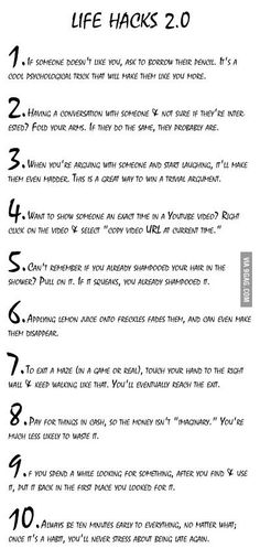 Life Hacks- u HAVE to read these!