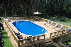 best modern backyard above ground pool