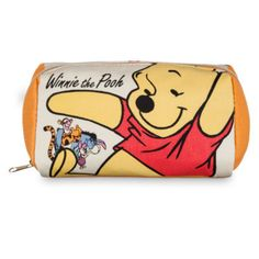 This Winnie The Pooh cosmetic bag is marvellous for make-up, pencils or other essentials! The zip-up canvas pouch features a different design of Pooh and friends on each side, and a handy interior pocket.