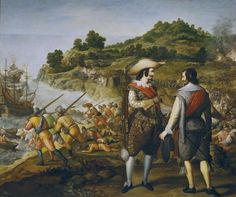 (Museo del Prado, Madrid, Spain) The city of San Juan in Puerto Rico was a Spanish colony in the 17th century and was attacked by Dutch...