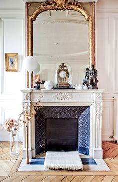 Fireplace by Louise Desrosiers