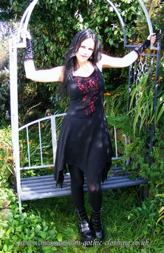 25f4732ac968 Shadowfaery Mini Dress by Moonmaiden Gothic Clothing UK Hot Goth Girls