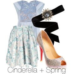 Cinderella, created by aidasifuentes on Polyvore