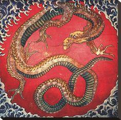 Dragon. By Katsushika Hokusai.