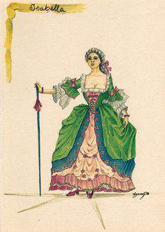 Isabella: questo è il nome con cui più frequentemente appare in scena il personaggio dell'Innamorata.