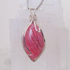 Rhodochrosite Pendant in Sterling Silver by CBGJewelryDesigns, $68.00