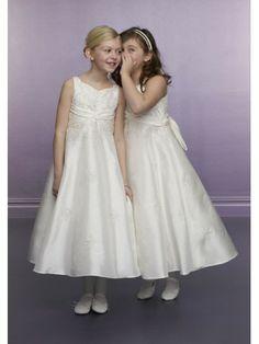 Taffeta sleeveless Empire Sweetheart Ankle-Length flower Girl Dress Flower  Girl Gown 8a0244e5cf05