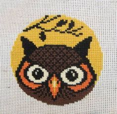 Halloween Owl  cross stitch - NEEDLEWORK