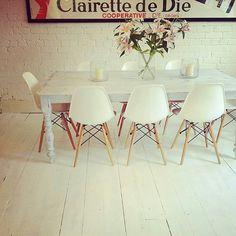 White chair love from The Eye Spy Milk Bar Blog