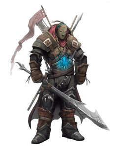 Male Human Masked Fighter or Vigilante - Pathfinder PFRPG DND D&D 3.5 5th ed d20 fantasy