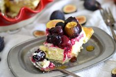 Roasted cherry-fig cheesecake